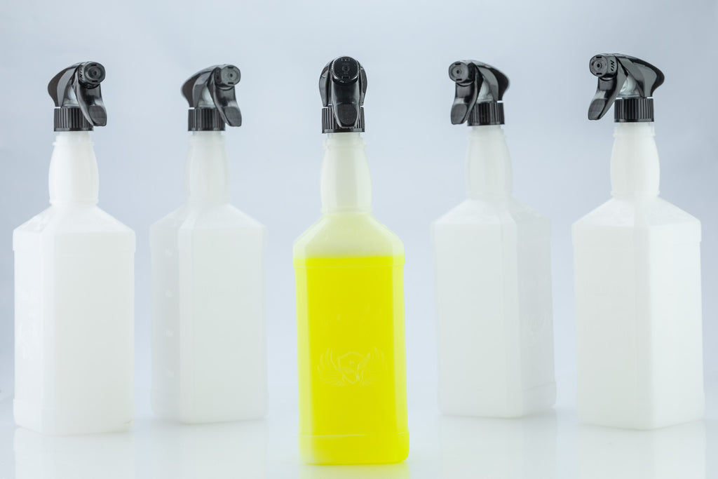 5x Golden Bird Bottles With Standard Triggers