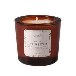 #23 Citrus Petals Cannabis Coconut Wax Candle