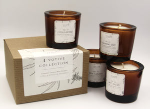 4 Votive Collection - Floral Botanical Scent