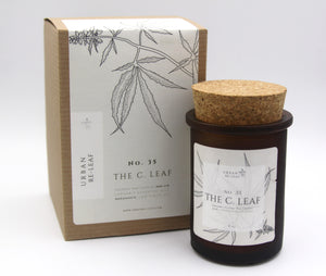 #35 The C. Leaf Cannabis Coconut Wax Candle