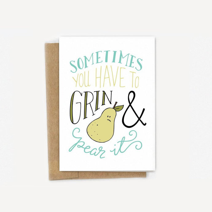 Grin & Pear It Card
