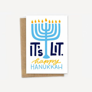 It's Lit Hanukkah Card