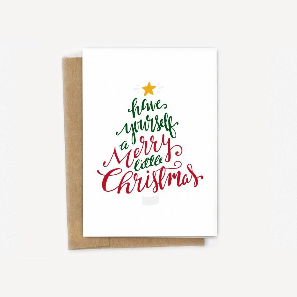 Merry Little Christmas Tree Card
