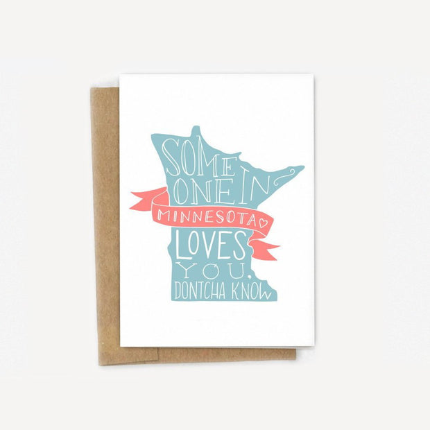 Someone in Minnesota Loves You Card 1
