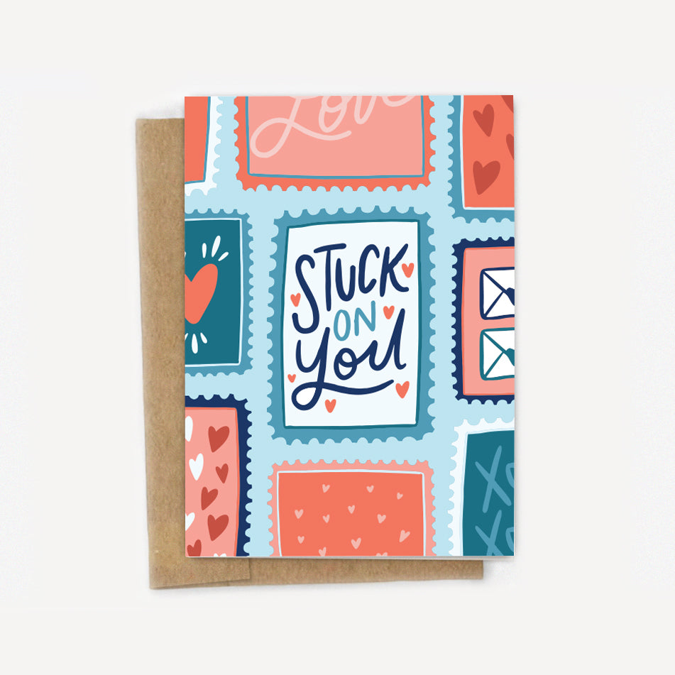 Stuck On You Stamps Card