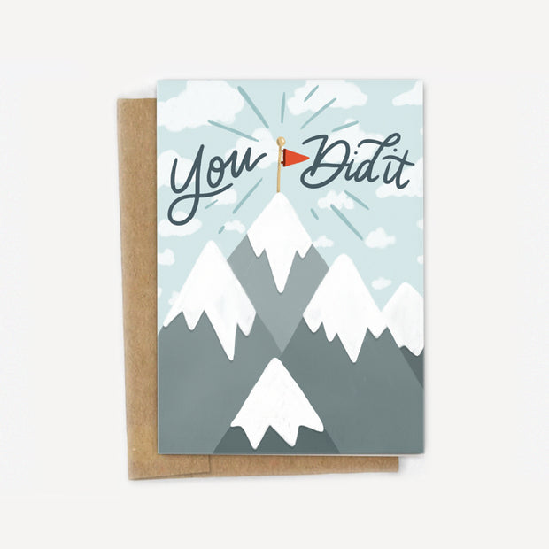 You Did It! Mountain Climber Card 1