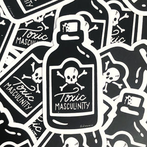 Toxic Masculinity Poison Bottle Vinyl Stickers
