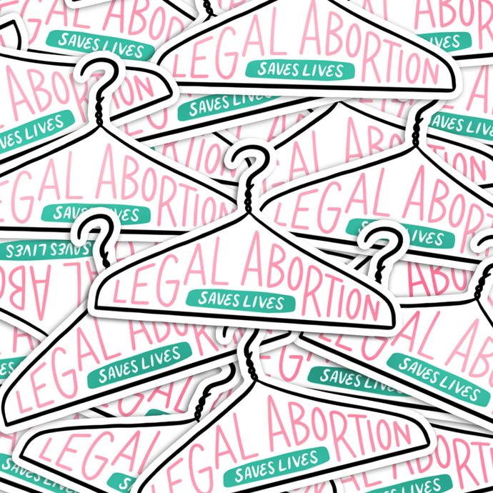 Legal Abortion Saves Lives Vinyl Stickers