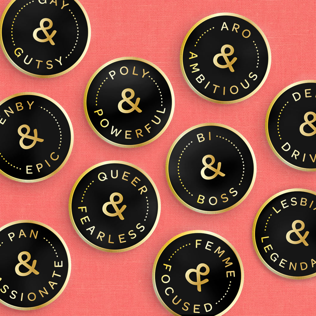 Gender & Orientation Positive Pride Pins