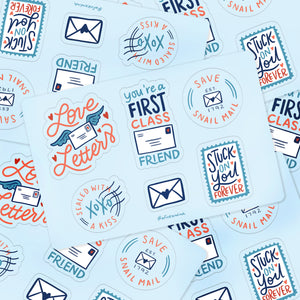Save Snail Mail Vinyl Sticker Sheet
