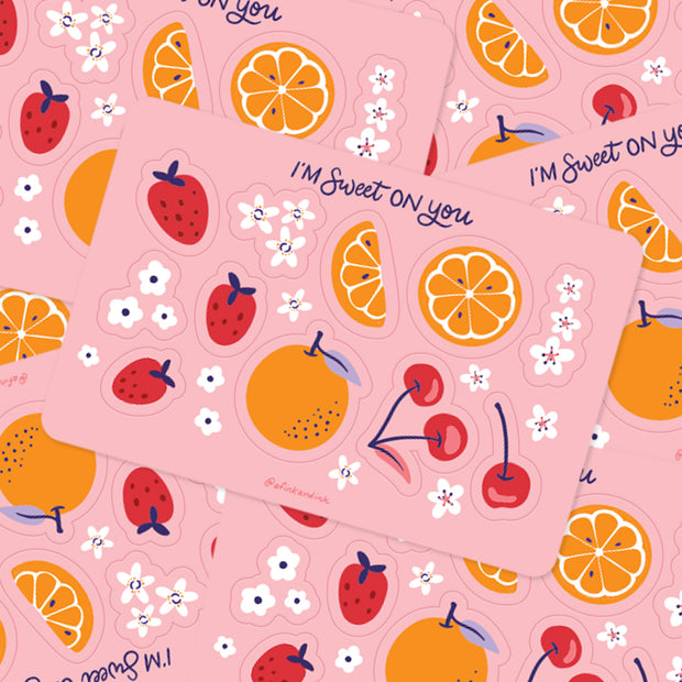 Sweet On You Fruity Stickers 1