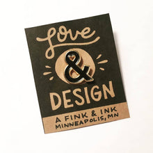 Load image into Gallery viewer, Love & Design Ampersand Soft Enamel Pin