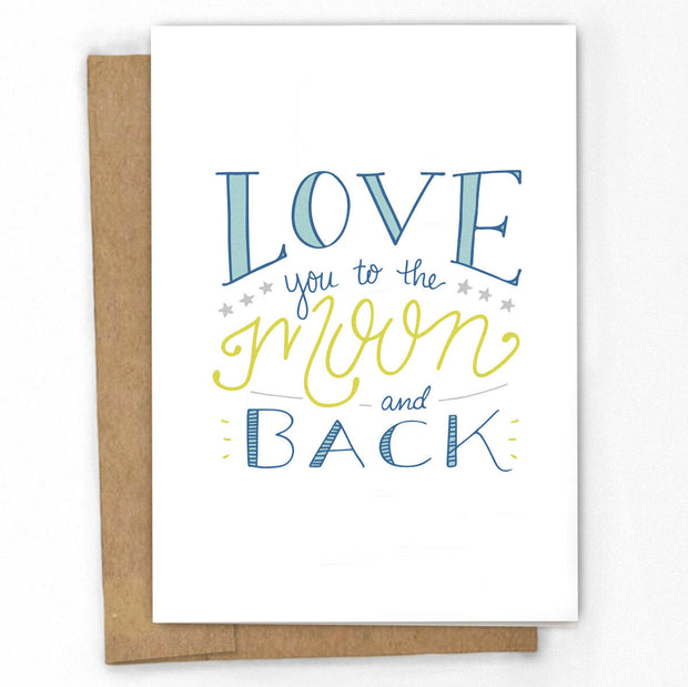 Love You to The Moon and Back Card 1