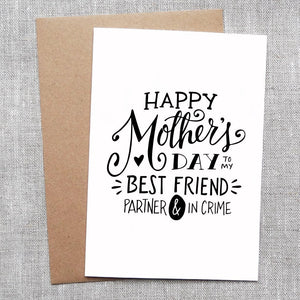 Mother's Day Partner in Crime Card