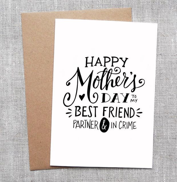 Mother's Day Partner in Crime Card 1