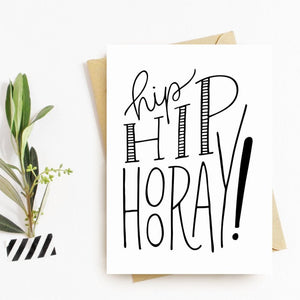 Hip Hip Hooray Congrats Card