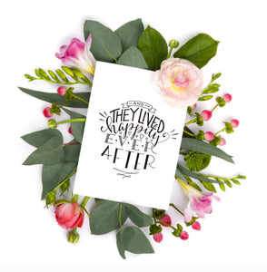 Fairytale Ending Wedding Card