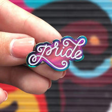 Load image into Gallery viewer, Metallic Rainbow LGBT+ Pride Pins