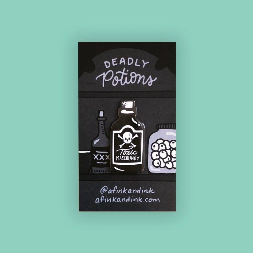 Toxic Masculinity Poison Pin