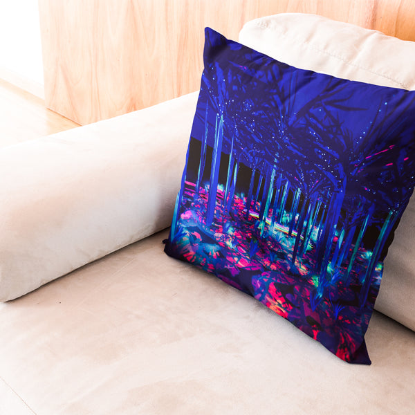 'RAINBOW FOREST I' Pillow