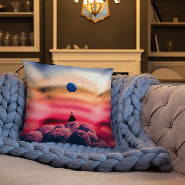 'OUTSIDE WORLD I' Pillow