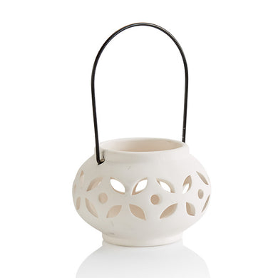 Pottery Votives & Lanterns- Round Hanging Votive