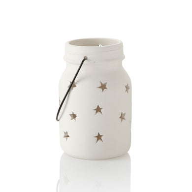 Pottery Votives & Lanterns- Star Jar Votive Medium