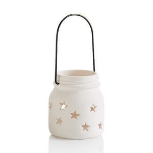 Pottery Votives & Lanterns- Star Jar Votive