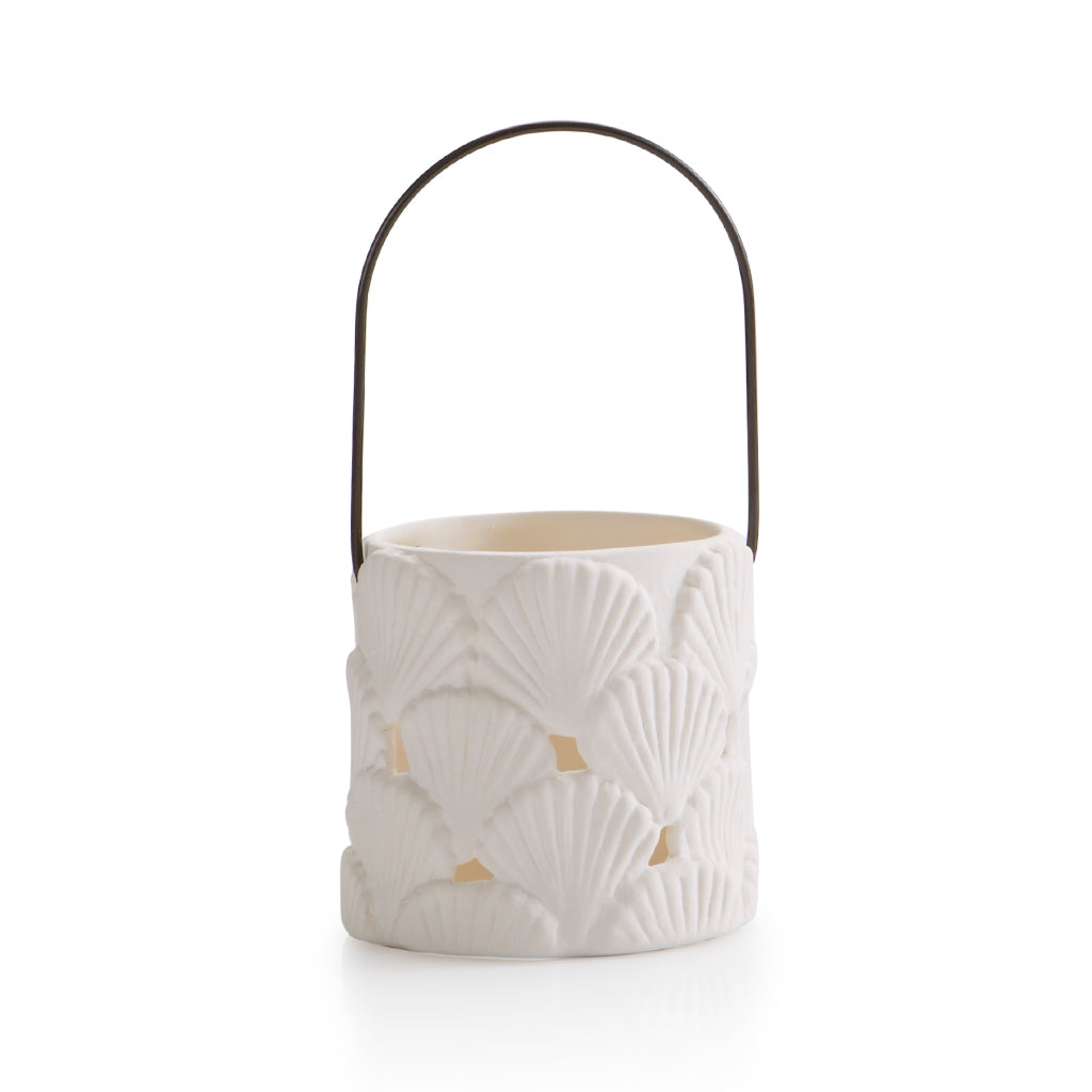 Pottery Votives & Lanterns- Shell Votive