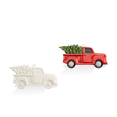 Ornament- Flat Truck with Tree
