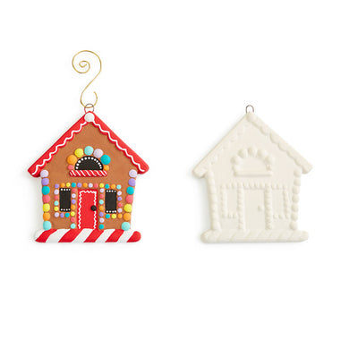Ornament- Flat Gingerbread House