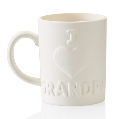 Pottery Dinnerware- I Love Grandpa Mug