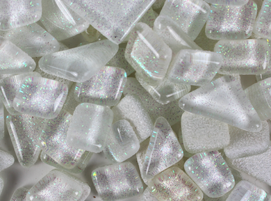 Mosaic Tiles- Glitter White Icicle