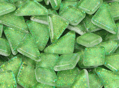 Mosaic Tiles- Glitter Bright Green