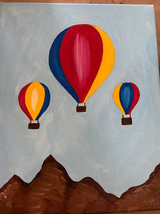 Kids Canvas- Hot Air Balloons