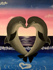 Kids Canvas- Dolphin Love