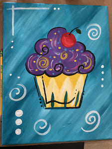 Kids Canvas- Cupcake