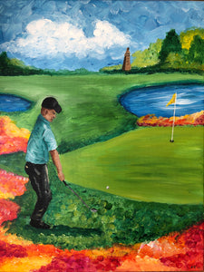 Adult Canvas- Golfing