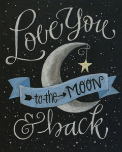 Adult Canvas- Love You To The Moon