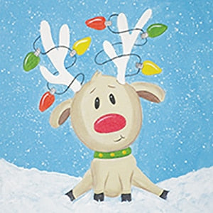 Holiday Canvas Panel- Reindeer