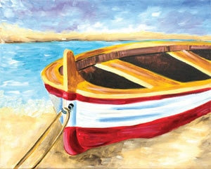 Adult Canvas- Beached Boat