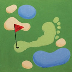 Kids Canvas- Footprint Golf
