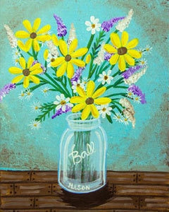 Adult Canvas- Country Bouquet