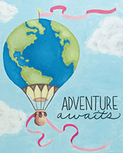 Adult Canvas- Adventure Awaits