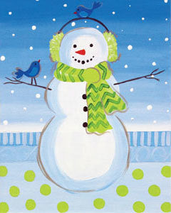 Holiday Canvas Panel- Snowman