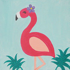 Kids Canvas- Fancy Flamingo