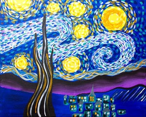 Adult Canvas- Starry Night
