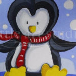 Kids Canvas- Snowy Penguin