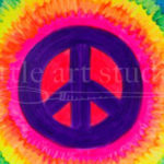 Kids Canvas- Rainbow Peace Sign