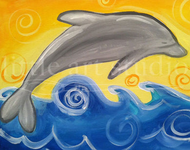 Kids Canvas- Dolphin